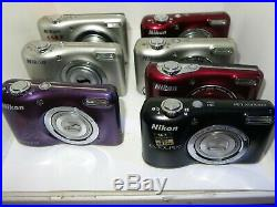 A LOT of 7 Nikon Coolpix Cams FAULTY BROKEN AS-IS PARTS REPAIR
