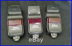 BROKEN 3x SB-600 Speedlight Shoe Mount Flash for Nikon FOR PARTS OR REPAIR ONLY