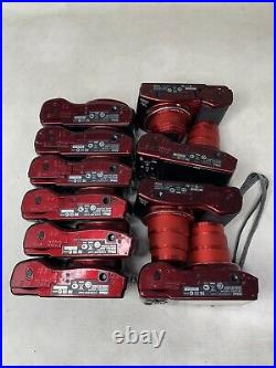 Lot of 10 Red Nikon COOLPIX L610 16.0MP Digital Cameras As Is For Parts/Repair