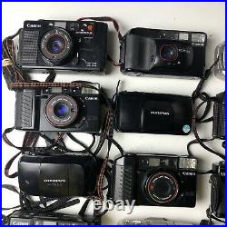 Lot of 15 cameras point and shoot 35mm PARTS OR REPAIR Nikon Canon Film