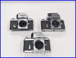 Lot of 3 Nikon Photomic F bodies For parts or repair