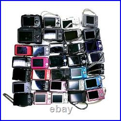 Lot of (33) Canon Sony Nikon 7-16MP Point & Shoot Cameras for PARTS/REPAIR as-is