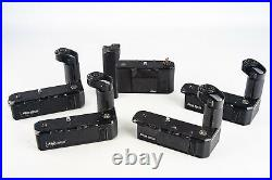 Lot of 5 Nikon Motor Drives MD-11 MD-12 MD-4 for PARTS OR REPAIR V18