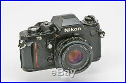 NIKON F3 Film Camera with NIKON Series E 50mm f1.8 Lens for PARTS / REPAIR AS IS