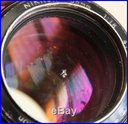 NIKON NIKKOR 85/1,8 85mm f1.8 LENS NON AI LENS FOR PARTS/REPAIR