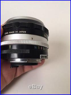 Nikkor-s auto 11.4 f=5.8cm Nippon Nogaku sold AS-IS, parts Or Repair Only