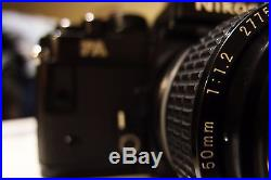 Nikon 50mm f1.2 EXC+ Condition - Comes with Free Nikon FA for repair/parts