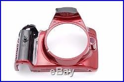 Nikon D3200 Front Cover Assembly Repair Part NO NAME PLATE NO RUBBER RED