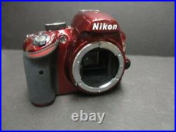 Nikon D3200 camera body for parts or repair sold AS IS Red color