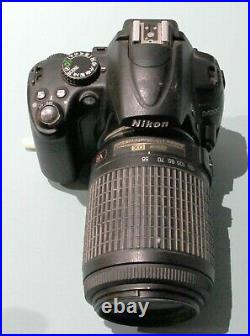 Nikon D5000 with 55-200 AS IS for PARTS or REPAIR