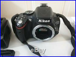 Nikon D5100 16.2MP DSLR Camera Body Working for Parts or Repair only Extras