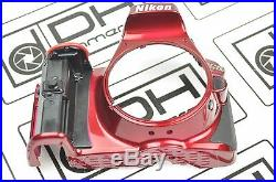 Nikon D5300 Front Cover Assembly WIth Name Plate Repair Part RED DH9110