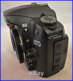 Nikon D80 Digital DSLR Camera Body Only. Very Clean. Needs Repair. For Parts