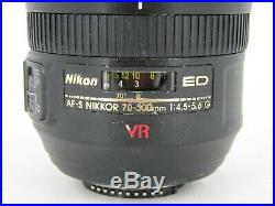 Nikon ED AF-S Nikkor 70-300mm 14.5-5.6G Not Working For Parts or Repair