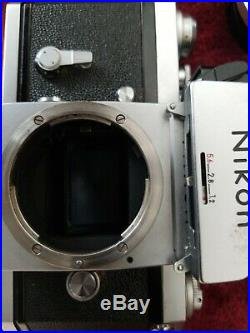Nikon F Photomic/w micro nikkor auto55mmFor Parts or repair. Untested