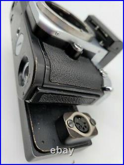 Nikon F2 withDP-1 viewfinder withE grid screen as-is for parts or repair