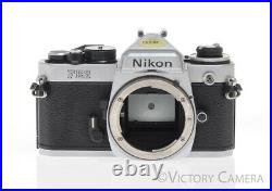 Nikon FE-2 Chrome Camera with Bad Shutter Parts/Repair