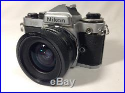 Nikon FE2 Camera with Tamron 12.5 24mm Lens Untested For Parts or Repair