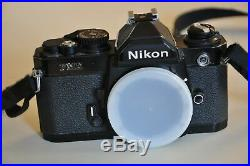 Nikon FM2 SLR Film Camera for Parts Repair ONLY Sold As-Is READ FULL DESCRIPTION