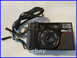 Nikon L35AF One-Touch 35mm Point Shoot Film Camera FOR PARTS OR REPAIR ONLY