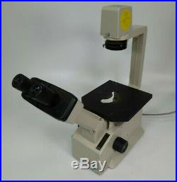 Nikon Model TMS Inverted Microscope with Eyepieces Turns On Parts / Repair