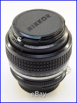 Nikon NIKKOR 50mm f/1.2 AI Lens Fast & Bright! AS-IS FOR PARTS OR REPAIR