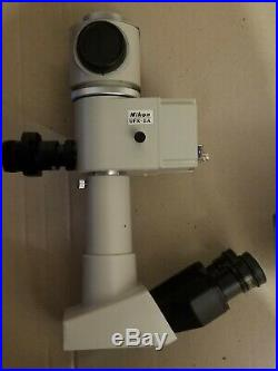 Nikon Optiphot Microscope for parts or repair. Untested
