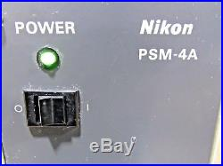 Nikon PSM-4A Florescent Microscope Power Supply for Parts or Repair
