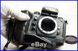 Nikon SLR Film Camera Body Only F4S - - for parts or repair shows error