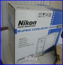 Nikon Super CoolScan 4000 ED with Accessories no power up For Repair or Parts