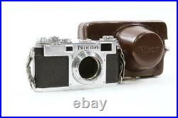 RARE! Nikon S2 EP Rangefinder Camera with EP Case FOR PARTS OR REPAIR