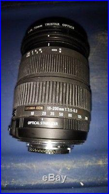 SIGMA ZOOM 18-200mm F3.5-6.3 DC OS HSM For Nikon FOR REPAIR OR PARTS