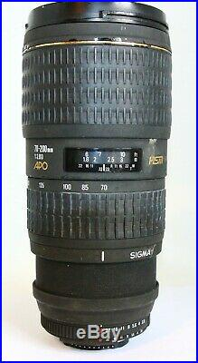 Sigma 70-200mm F2.8 Apo Hsm Nikon Slr/dslr Lens For Repair/parts As Is Broken