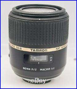 Tamron SP 60mm F2.0 11 Macro Lens For Nikon DX DSLR Camera For Parts/Repair