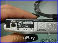 Used & Untested Nikon CoolPix S3300 Digital Camera (Silver) For Parts/Repair