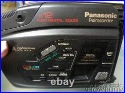 Used & Untested Panasonic VHS-C PalmCorder PV-54D 12x Zoom Parts Or Repairs