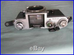 VINTAGE NIKON F 35mm FILM CAMERA WithVIEWFINDER BODY ONLY FOR PARTS OR REPAIR