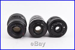 Vintage Lot of 7 Camera Lenses Nikon Canon Pentax For Parts or Repair V15