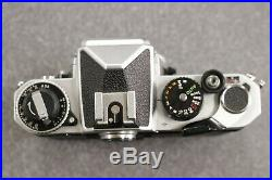 Vintage Nikon FE 35mm Camera Body Only Chrome Parts or Repair