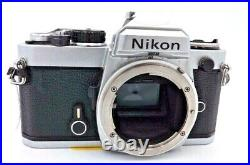 Vintage Nikon FE 35mm Camera Body Only Chrome Parts or Repair #4283024