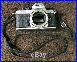 Vintage Nikon FM2 35mm SLR Film Camera Body Only Selling For Parts or Repair