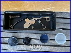 Vintage Nikon Microscope With Wooden Storage Box For Parts Or Repair