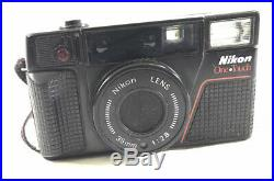Vintage Nikon One Touch 35mm L35 Film Camera 12.8 PARTS or REPAIR Nice Body